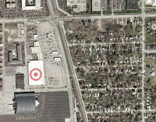 Target Roof from Google Maps